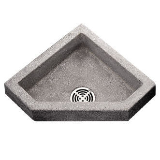 Berkeley Neo Corner Mop Service Sink Shown in Grey (501)