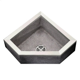 TSBC6011 Stockton Neo Corner Mop Service Sink Shown in Grey (501)