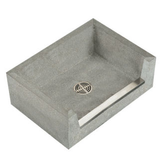 TSB3013 Stockton Rectangular Mop Service Sink Shown in Grey (501)