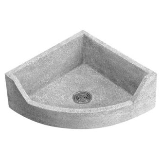 TSBCR1000 Stockton Neo Corner Mop Service Sink Shown in Grey (501)